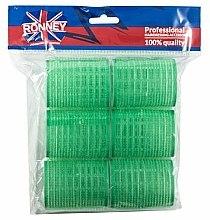 Parfums et Produits cosmétiques Bigoudis velcro 48/63, vert - Ronney Professional Velcro Roller