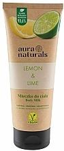Parfums et Produits cosmétiques Lait pour corps, Citron et Lime - Aura Naturals Lemon & Lime Body Milk