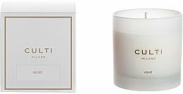 Parfums et Produits cosmétiques Bougie parfumée - Culti Milano Candle Bianco Velvet