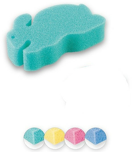 Éponge de bain Lapin, vert - Top Choice