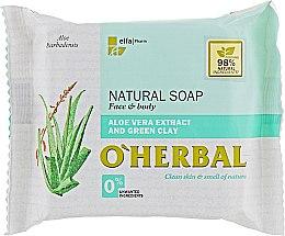 Parfums et Produits cosmétiques Savon naturel à l'extrait d'aloe vera et argile verte pour visage et corps - O'Herbal Natural Soap