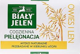 Parfums et Produits cosmétiques Savon solide à l'avoine et lin - Bialy Jelen Hypoallergenic Soap Natural Oats