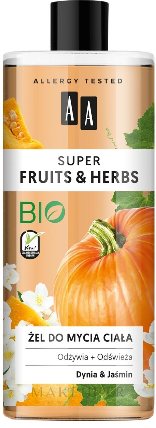 Gel douche Citrouille et jasmin - AA Super Fruits & Herbs — Photo 500 ml