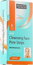 Parfums et Produits cosmétiques Patchs à l'extrait d'hamamélis pour front et menton - Beauty Formulas Deep Cleansing Face Pore Strips
