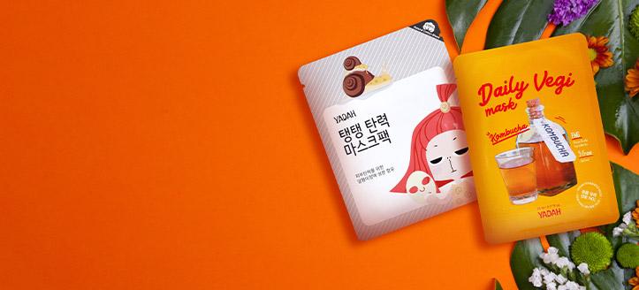 Lorsque vous achetez des produits Yadah à partir de 12 € vous recevrez un masque en tissu de votre choix