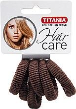 Parfums et Produits cosmétiques Élastiques à cheveux, 6 pcs, marron - Titania