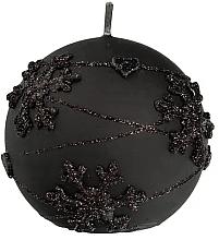 Parfums et Produits cosmétiques Bougie décorative, boule, noir, 12 cm - Artman Snowflake Application
