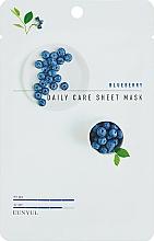 Parfums et Produits cosmétiques Masque tissu à l'extrait de myrtille pour visage - Eunyul Daily Care Mask Sheet Blueberry