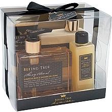 Parfums et Produits cosmétiques Coffret corps - Beeing True Miel d'amande (gel douche/250ml + lotion corporelle/250ml + sels de bain/100ml + gommage corporel/100ml)