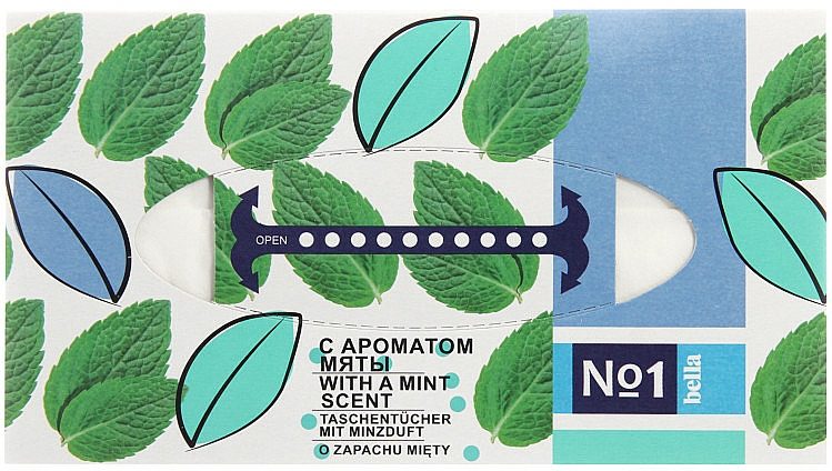 Mouchoirs, Menthe - Bella Mint Wipes