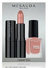 Parfums et Produits cosmétiques Kit cosmétique - Mesauda Milano I Want You Kit (rouge à lèvres/3.5g + vernis à ongles/10ml)