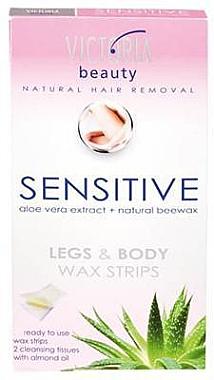 Bandes de cire pour corps et pieds - Victoria Beauty Sensitive Legs & Body Waxing Strips