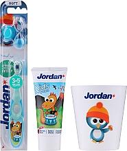 Parfums et Produits cosmétiques Jordan Kids - Set, Dragon (dentifrice/50ml + brosse à dents/1pc + tasse)