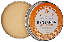 Parfums et Produits cosmétiques Déodorant crème naturel, Orchidée et Vanille - Ben & Anna Vanilla Orchid Soda Cream Deodorant