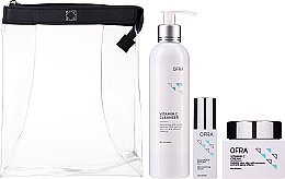 Parfums et Produits cosmétiques Ofra Normal Skin Solution Trio - Coffret (sérum pour visage/30ml + crème pour visage/60ml + nettoyant pour visage/240ml)