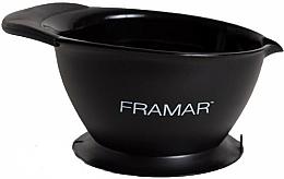 Parfums et Produits cosmétiques Bol à coloration cheveux avec ventouse à la base, noir - Framar SureGrip Suction Bowl Black