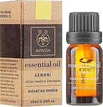 Huile essentielle de citron 100 % pure - Apivita Aromatherapy Organic Lemon Oil — Photo N1