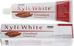 Parfums et Produits cosmétiques Gel dentifrice cannelle, sans fluoride - Now Foods XyliWhite Toothpaste Gel