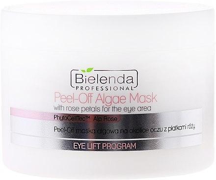 Masque peel-off aux algues et pétales de rose pour contour des yeux - Bielenda Professional Eye Lift Program Peel-Off Algae Mask