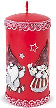Parfums et Produits cosmétiques Bougie décorative, rouge, 7x18cm - Artman Dwarves