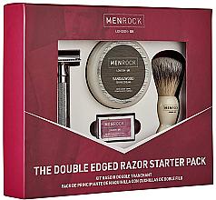 Parfums et Produits cosmétiques Men Rock The Cut Throat Starter Pack - Kit (rasoir de sûreté/1pcs + blaireau à raser/1pcs + lame à raser/5pcs + crème à raser/100ml)
