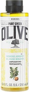 Gel douche crémeux à la bergamote et olive - Korres Pure Greek Olive Bergamot Shower Gel — Photo N1