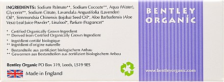 Savon à la lavande, huile d'aloe vera et jojoba - Bentley Organic Body Care Calming & Moisturising Soap Bar — Photo N3