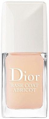Base soin fortifiant et durcisseur pour ongles - Dior Base Coat Abricot — Photo N1