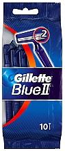 Parfums et Produits cosmétiques Set rasoirs jetables, 10 pcs - Gillette Blue II Disposable Men's 2-Blade Travel Razors with Razor Blades