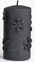 Parfums et Produits cosmétiques Bougie décorative, noir, 7x10cm - Artman Snowflake Application