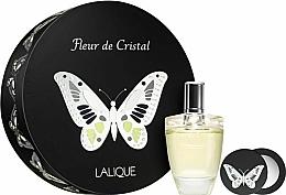 Parfums et Produits cosmétiques Lalique Fleur de Cristal - Coffret (eau de parfum/100ml + miroir de poche)