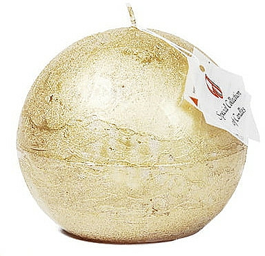 Bougie naturelle, boule, 12cm , Lueur dorée - Ringa Golden Glow Candle — Photo N1