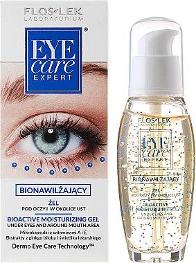 Gel naturel pour les contour des yeux et des lèvres - Floslek Eye Care Bioactive Moisturizing Gel Under Eyes And Around Mouth Area