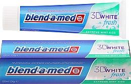 Parfums et Produits cosmétiques Dentifrice à la menthe - Blend-a-med 3D White Fresh Extreme Mint Kiss Toothpaste