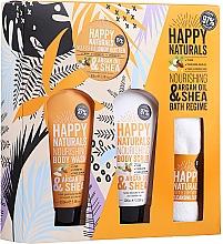 Parfums et Produits cosmétiques Coffret cadeau - Dirty Works Happy Naturals (sh/gel/100ml + b/butter/100ml + scrub/100ml + flannel/towel)