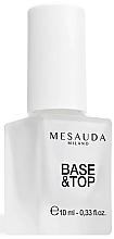 Parfums et Produits cosmétiques Base et top coat pour ongles - Mesauda Milano Base & Top Coat Nail Polish 101