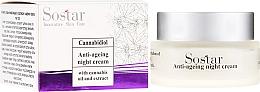 Parfums et Produits cosmétiques Crème de nuit à l'huile de chanvre et jus d'aloe vera - Sostar Cannabidiol Anti Ageing Night Cream With Cannabis Extract