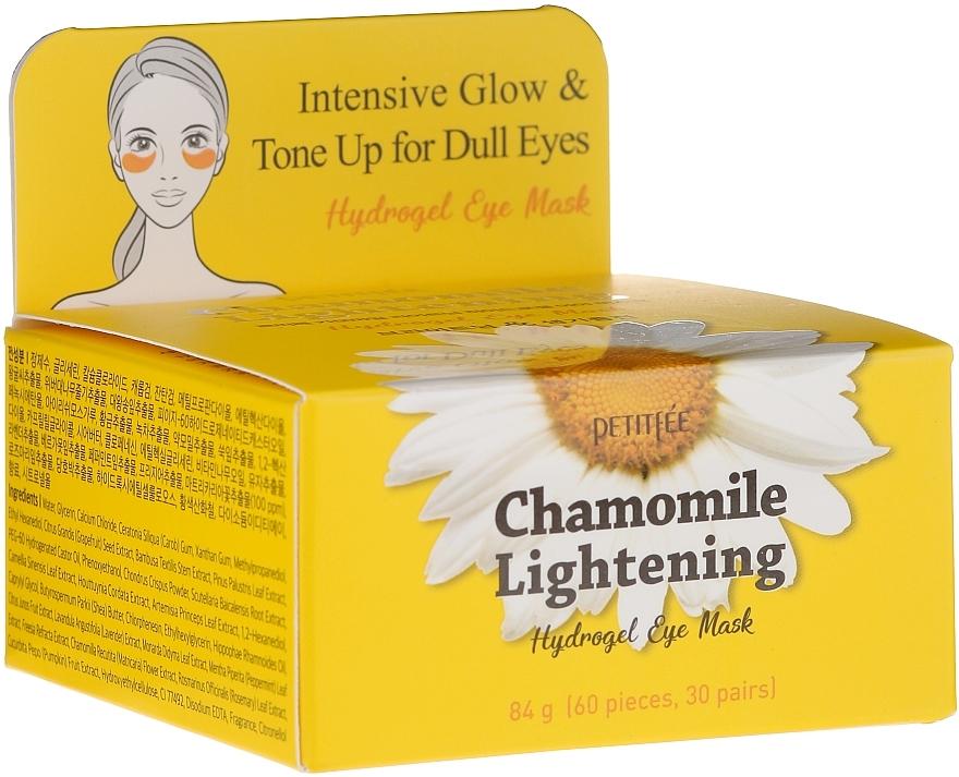 Patchs hydrogel à l'extrait de camomille pour contour des yeux - Petitfee&Koelf Chamomile Lightening Hydrogel Eye Mask