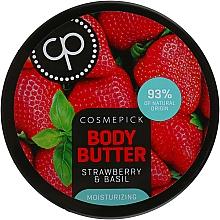 Parfums et Produits cosmétiques Beurre à l'extrait de fraisier des bois pour corps - Cosmepick Body Butter Strawberry & Basil