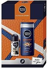 Parfums et Produits cosmétiques Nivea Men Ultimate Sport - Set (gel douche/250ml + déodorant roll-on/50ml)