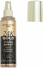 Parfums et Produits cosmétiques Revolution Pro 24K Gold Fixing Spray - Spray fixateur de maquillage aux particules dorées