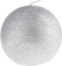 Parfums et Produits cosmétiques Bougie décorative, Boule de Noël argent, 10cm - Artman Glamour