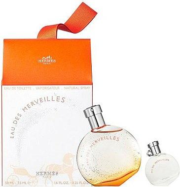 Hermes Eau Des Merveilles - Coffret cadeau (eau de toilette/50ml + eau de toilette/7.5ml) — Photo N1