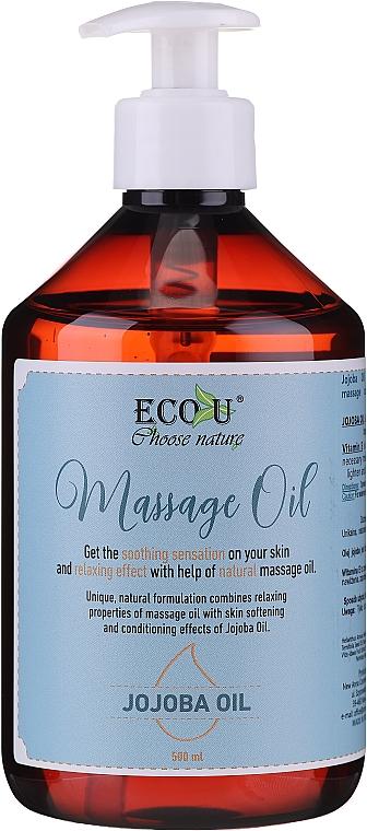 Huile de massage à l'huile de jojoba - Eco U Jojoba Massage Oil