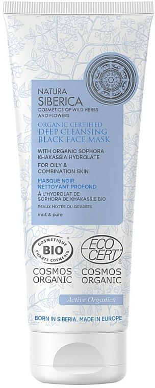 Masque noir au sophora du Japon pour visage - Natura Siberica Organic Certified Deep Cleansing Black Face Mask