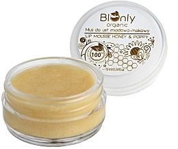 Parfums et Produits cosmétiques Mousse bio au miel et graines de pavot pour lèvres - BIOnly Organic Lip Mousse Honey & Poppy
