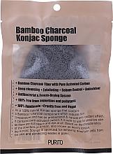 Parfums et Produits cosmétiques Éponge nettoyante au charbon de bambou pour visage - Purito Bamboo Charcoal Konjac Sponge