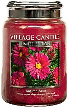 Parfums et Produits cosmétiques Bougie parfumée en jarre - Village Candle Autumn Aster Glass Jar