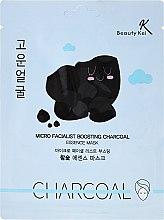 Parfums et Produits cosmétiques Masque nettoyant au charbon actif pour visage - Beauty Kei Micro Facialist Boosting Charcoal Essence Mask