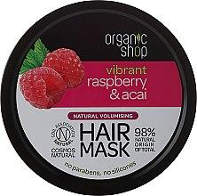 Parfums et Produits cosmétiques Masque volumisant à la framboise et açaï pour cheveux - Organic Shop Raspberry & Acai Hair Mask